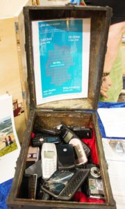 Viel Aufmerksamkeit gab es für ungenutzte Materialien in alten Handys.
