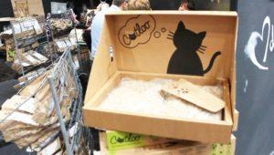 Ein Katzenklo aus Pappe